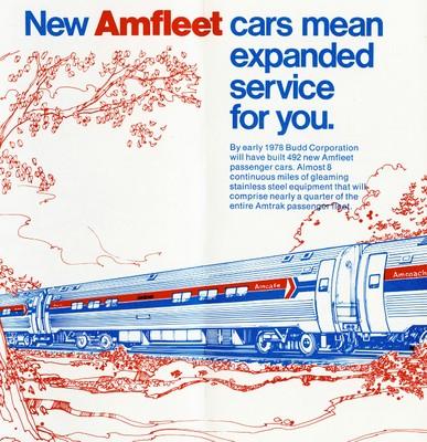 Amfleet brochure, 1975