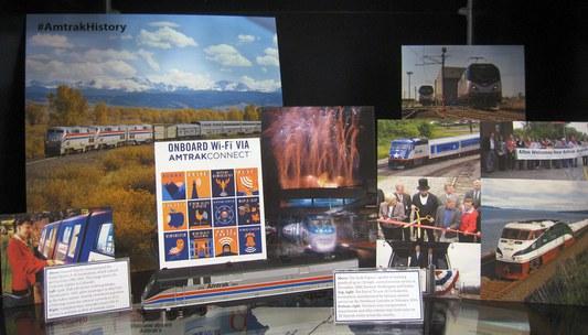 Amtrak state partnerships display at MOT, St. Louis.