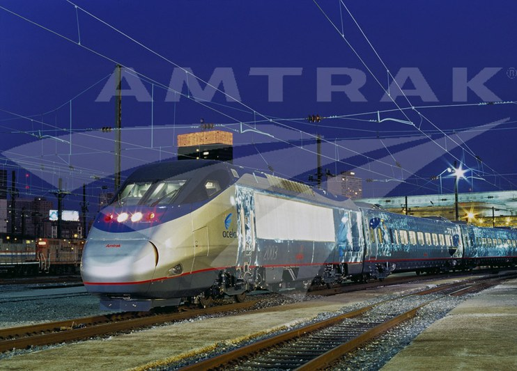 Acela Express at night, 2000s. — Amtrak: History of America's ...