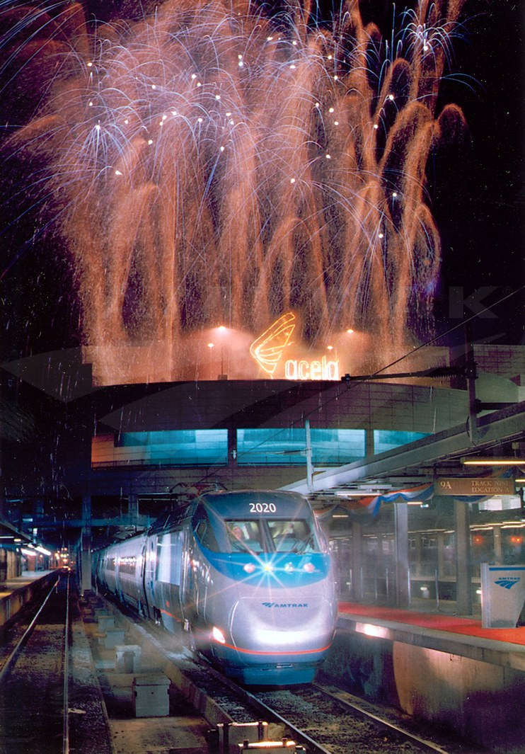 <i>Acela Express</i> celebration in Boston, 2000.