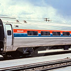 Amfleet coach car No. 21135, 1970s.