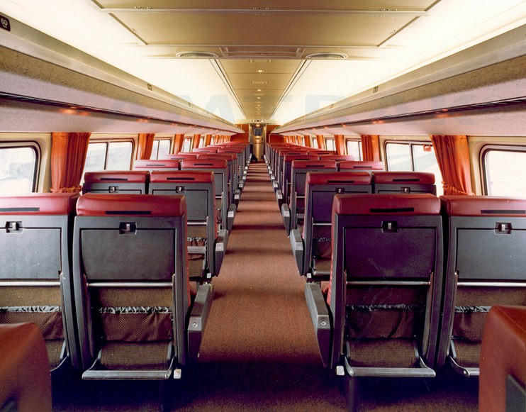 amfleet ii coach interior 1980s amtrak history of america s railroad. Black Bedroom Furniture Sets. Home Design Ideas