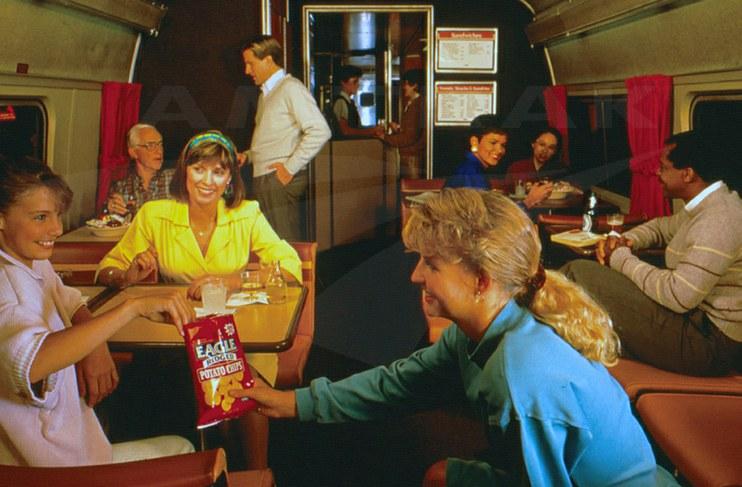 Amfleet II food service car, 1980s.