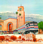 Amtrak wall calendar, 1981.