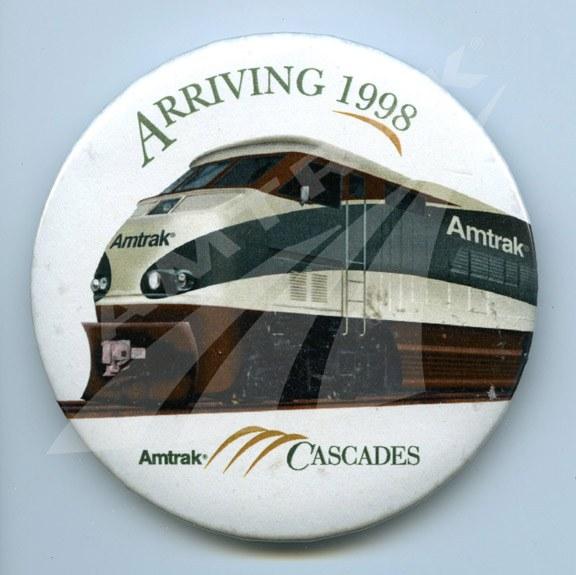 Amtrak Cascades button.