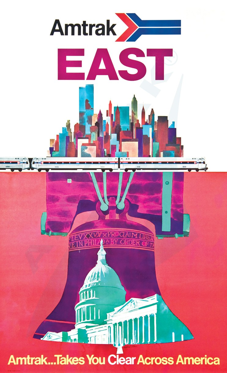 National Railroad Museum >> Amtrak East poster. — Amtrak: History of America's Railroad