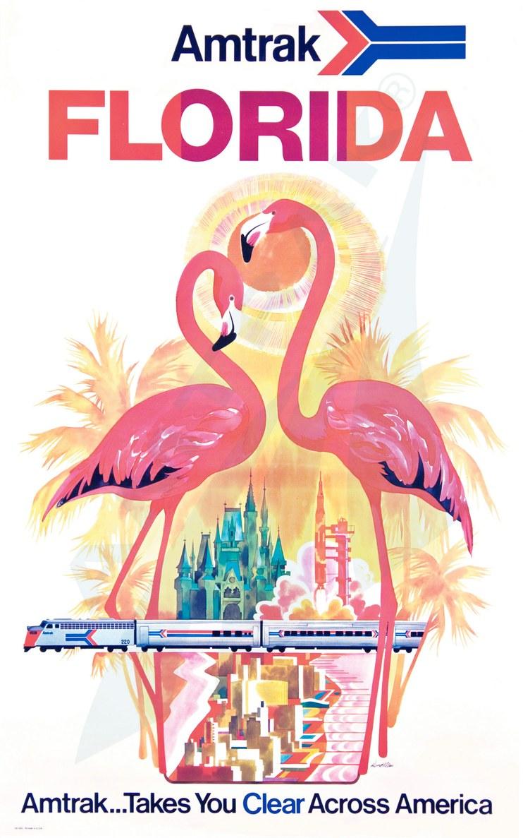 Amtrak Florida poster.