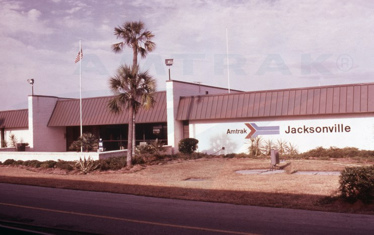 Amtrak Jacksonville, Fla., station, 1970s.