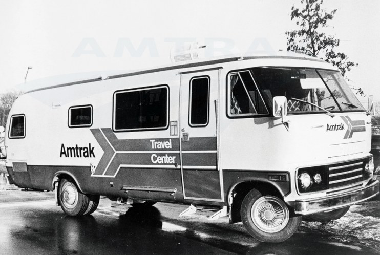 Amtrak's mobile Travel Center van