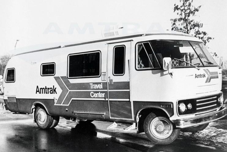 Amtrak mobile Travel Center, 1970s.