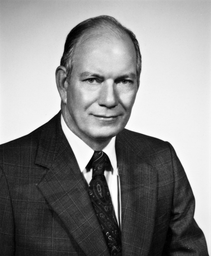 Amtrak President Alan S. Boyd, 1970s.