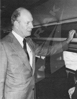 Amtrak President and CEO Alan S. Boyd, late 1970s.