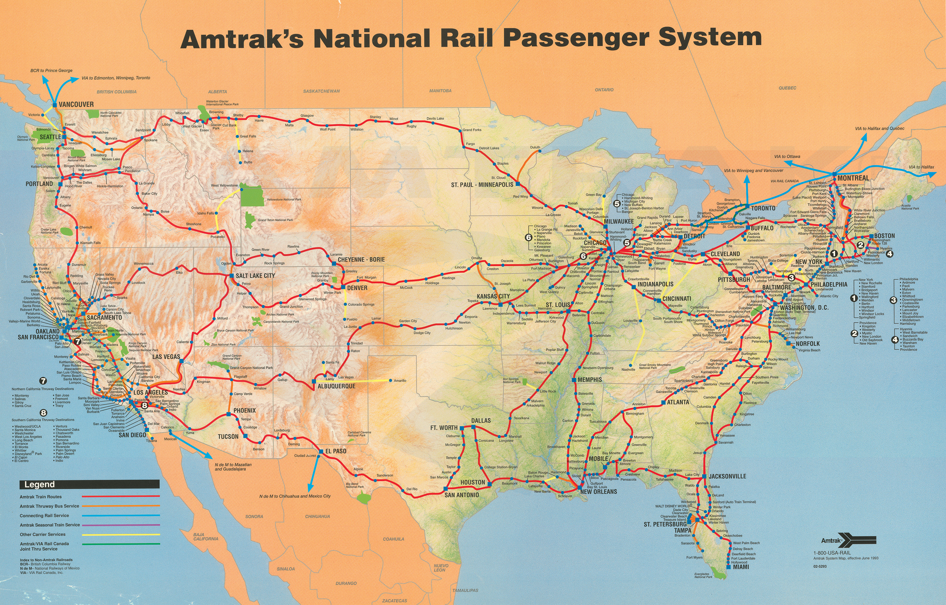 Amtrak System Map Amtrak History Of Americas Railroad - Amtrak map of routes in us