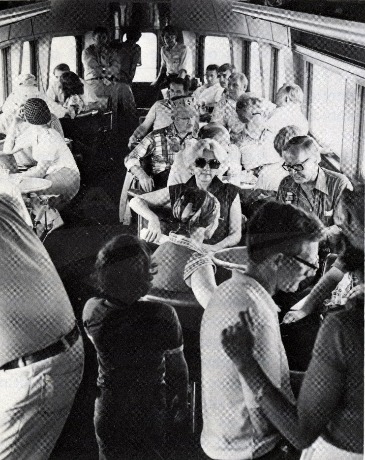 Amtrak Transcontinental Steam Excursion train, 1977.