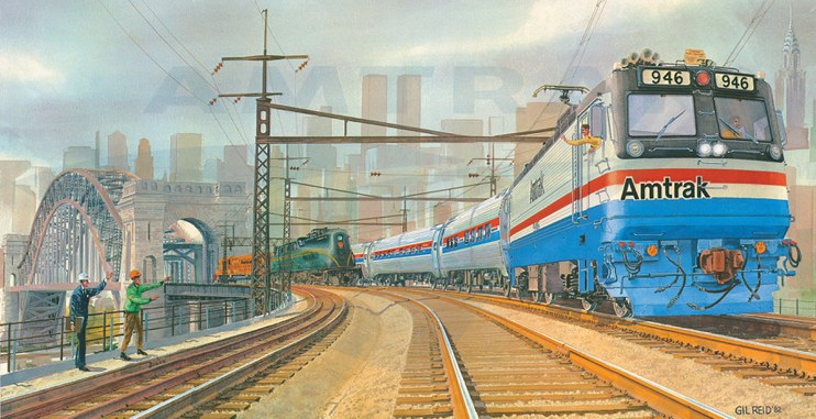 Amtrak wall calendar, 1983.