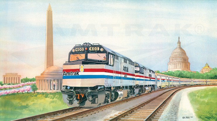 Amtrak wall calendar, 1986.