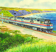 Amtrak wall calendar, 1987.