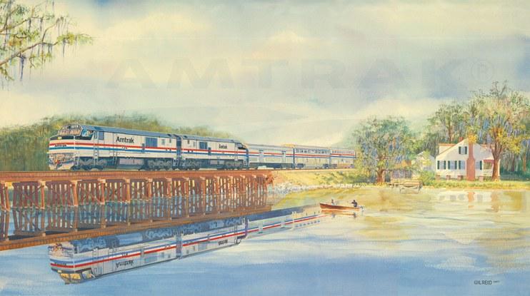 Amtrak wall calendar, 1988.