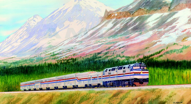 Amtrak wall calendar, 1989.