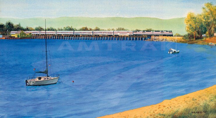 Amtrak wall calendar, 1990.