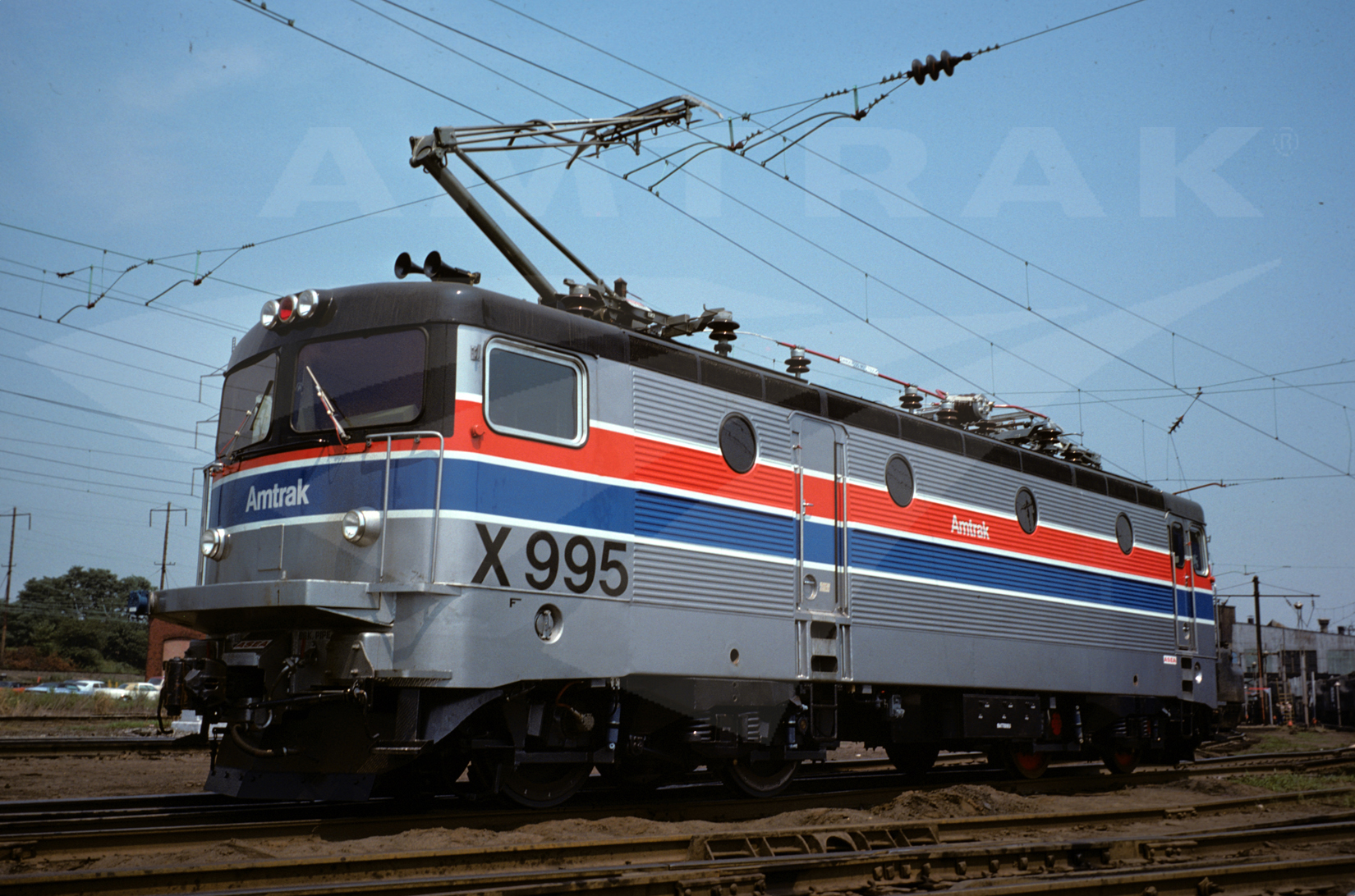 Amtrak No. X995 test locomotive, late 1970s. — Amtrak ...