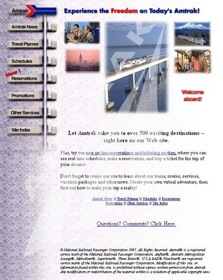 Amtrak.com, First Website.