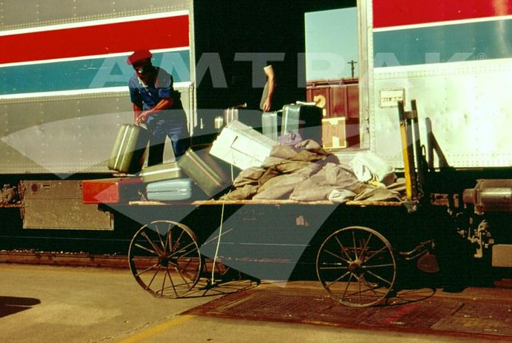 Baggage handling wagon.