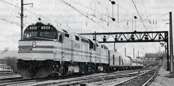 First <i>Broadway Limited</i> with head-end power equipment, 1980.
