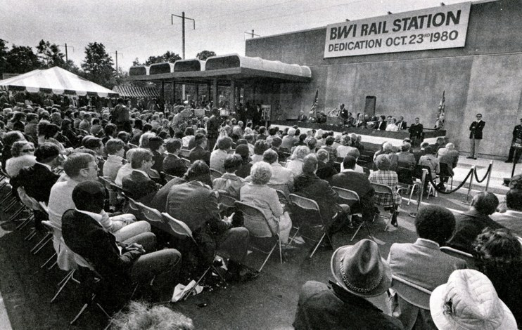 BWI Rail Station dedication, 1980.