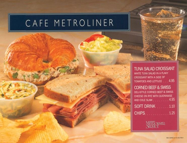 Cafe Metroliner poster, 1995.