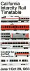 California Intercity Rail Timetable, 1983.