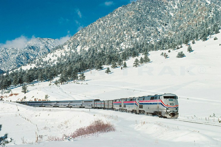 <i>California Zephyr</i> in the Front Range, 1990s.