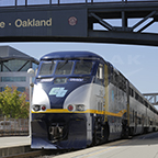 <i>Capitol Corridor</i> train at Oakland, Calif., 2015.