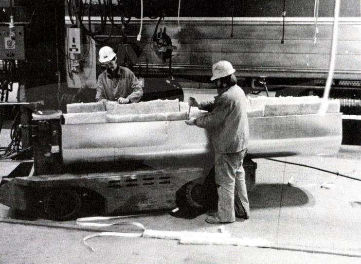 Carman and carman-welder at Beech Grove, 1980.