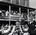 Ceremony at the Martinsburg, W. Va., station, 1970s.