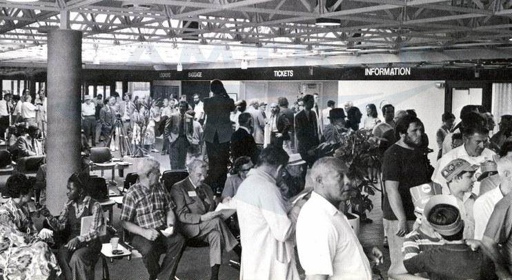 Cleveland station dedication, 1977.