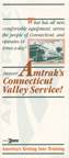 <i>Connecticut Valley Service</i> timetable, 1980.
