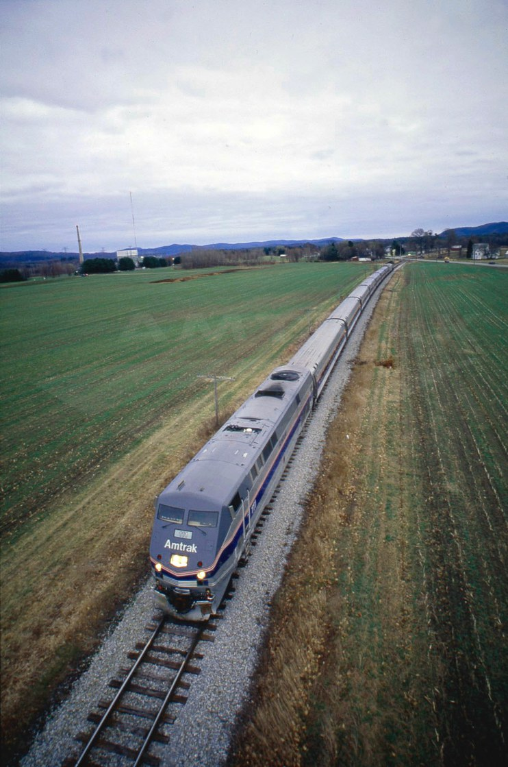 <i>Vermonter</i> passing through the countryside, 1997.