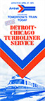 Detroit-Chicago Turboliner Service brochure, 1975.