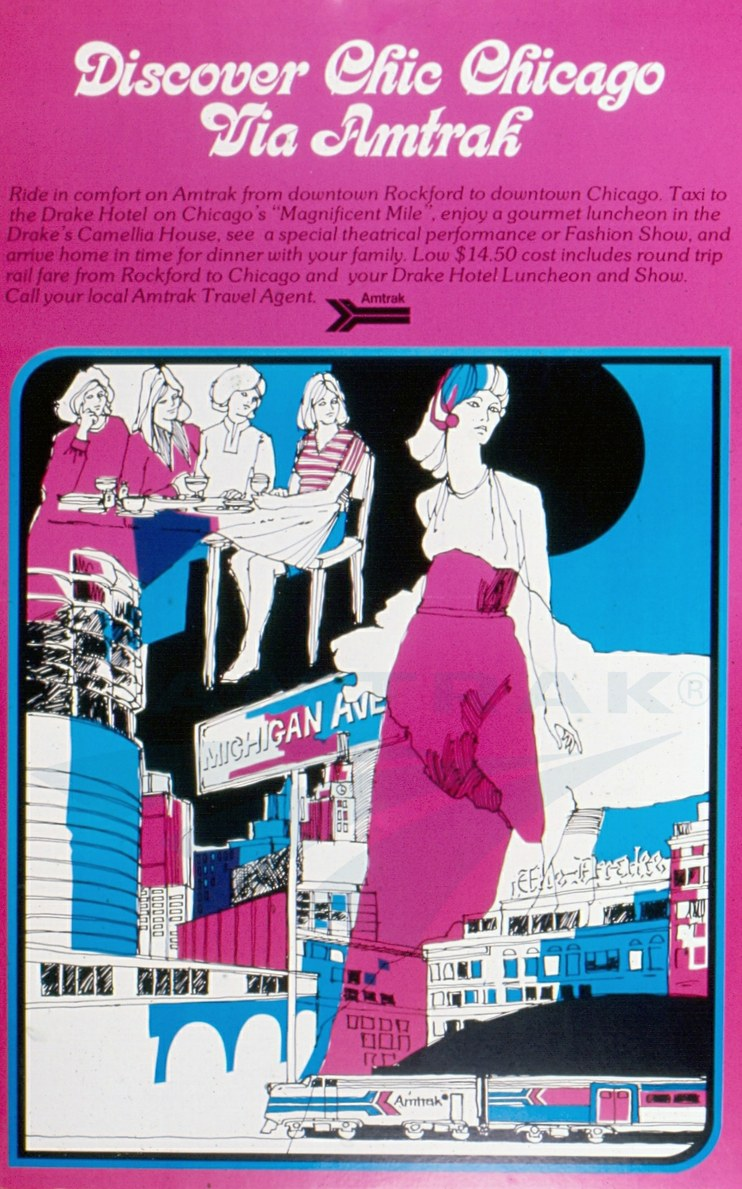 """""""Discover Chic Chicago"""" poster, 1970s."""
