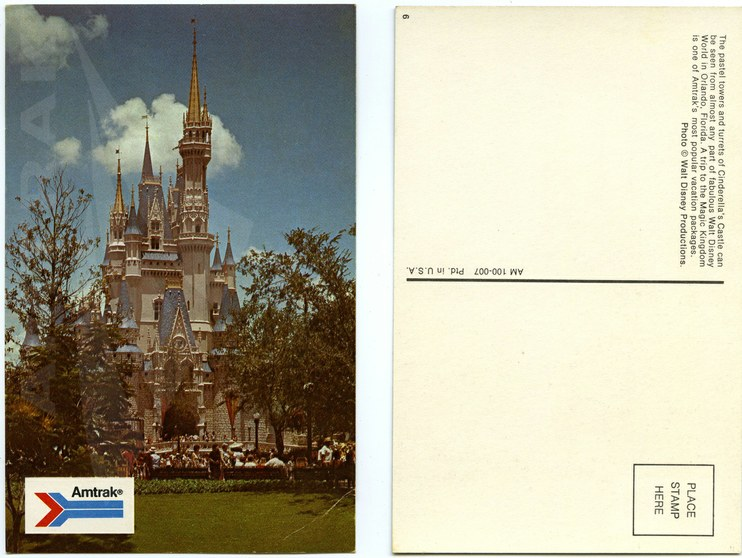 Disney World postcard, 1970s.