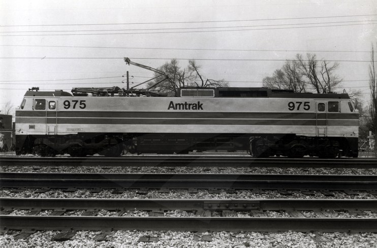 E-60CP locomotive No. 975, late 1970s.