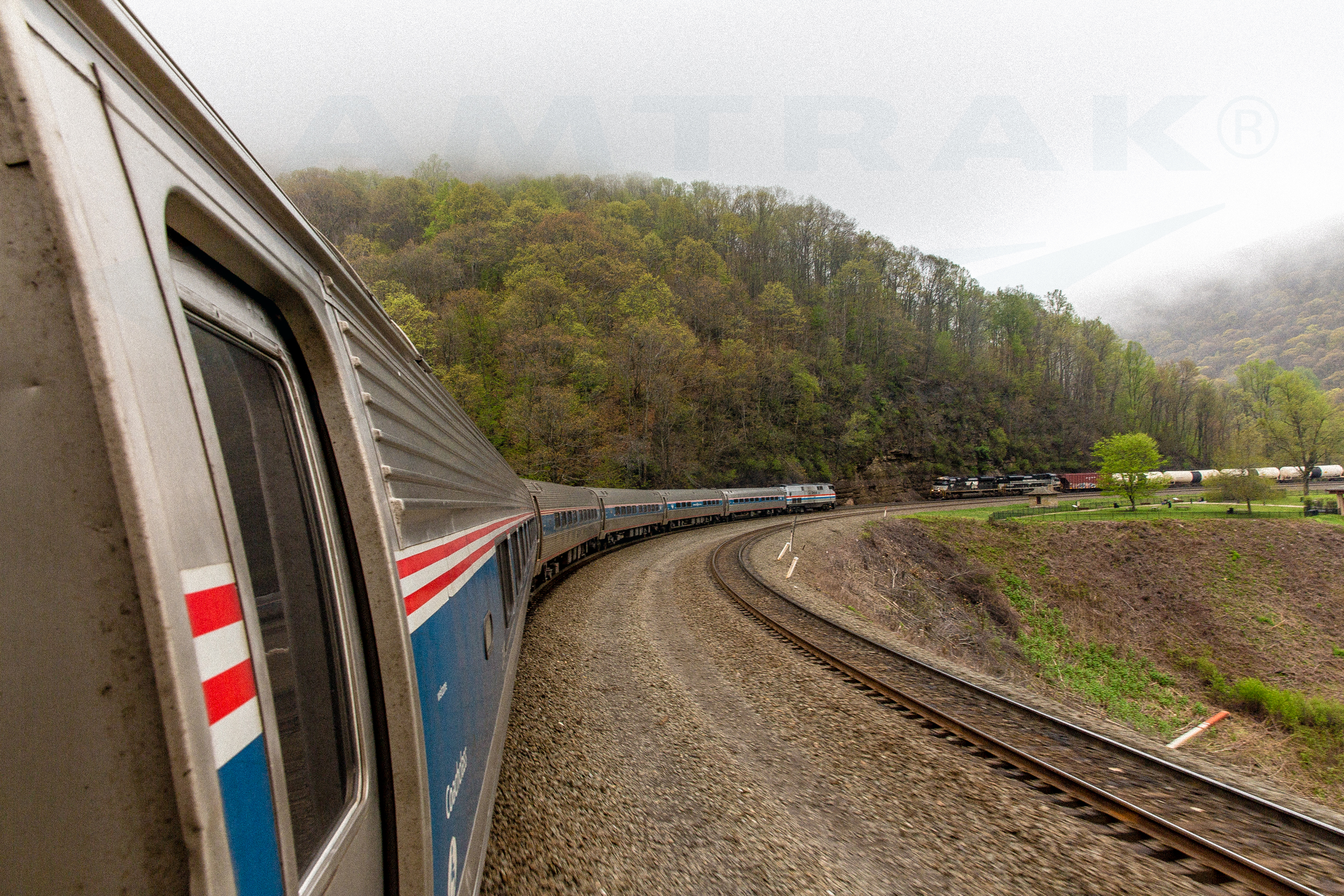 Eastbound Pennsylvanian on Horseshoe Curve, 2016. — Amtrak ...