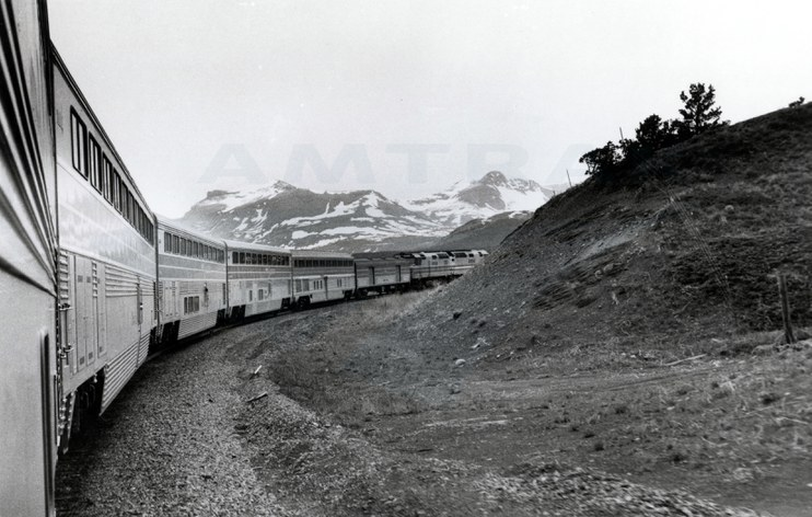 <i>Empire Builder</i> in the mountains, 1980s.