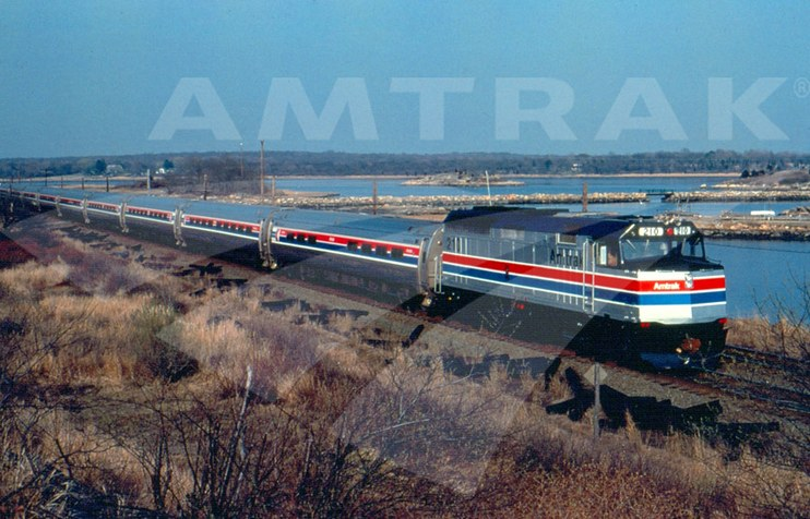 F40 210 and Amfleet cars