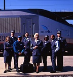 New uniforms for the <i>Acela</i> Onboard Service personnel.