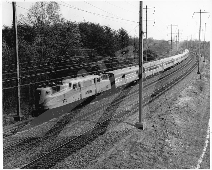 <i>Broadway Limited</i> on the Northeast Corridor, early 1970s.