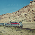 <i>California Zephyr</i> in Ruby Canyon, c. 2000.