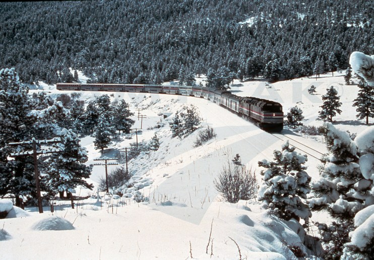 <i>California Zephyr</i>  near Crescent, Colo., 1980s.