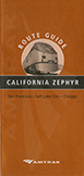 <i>California Zephyr</i> route guide, 2008.
